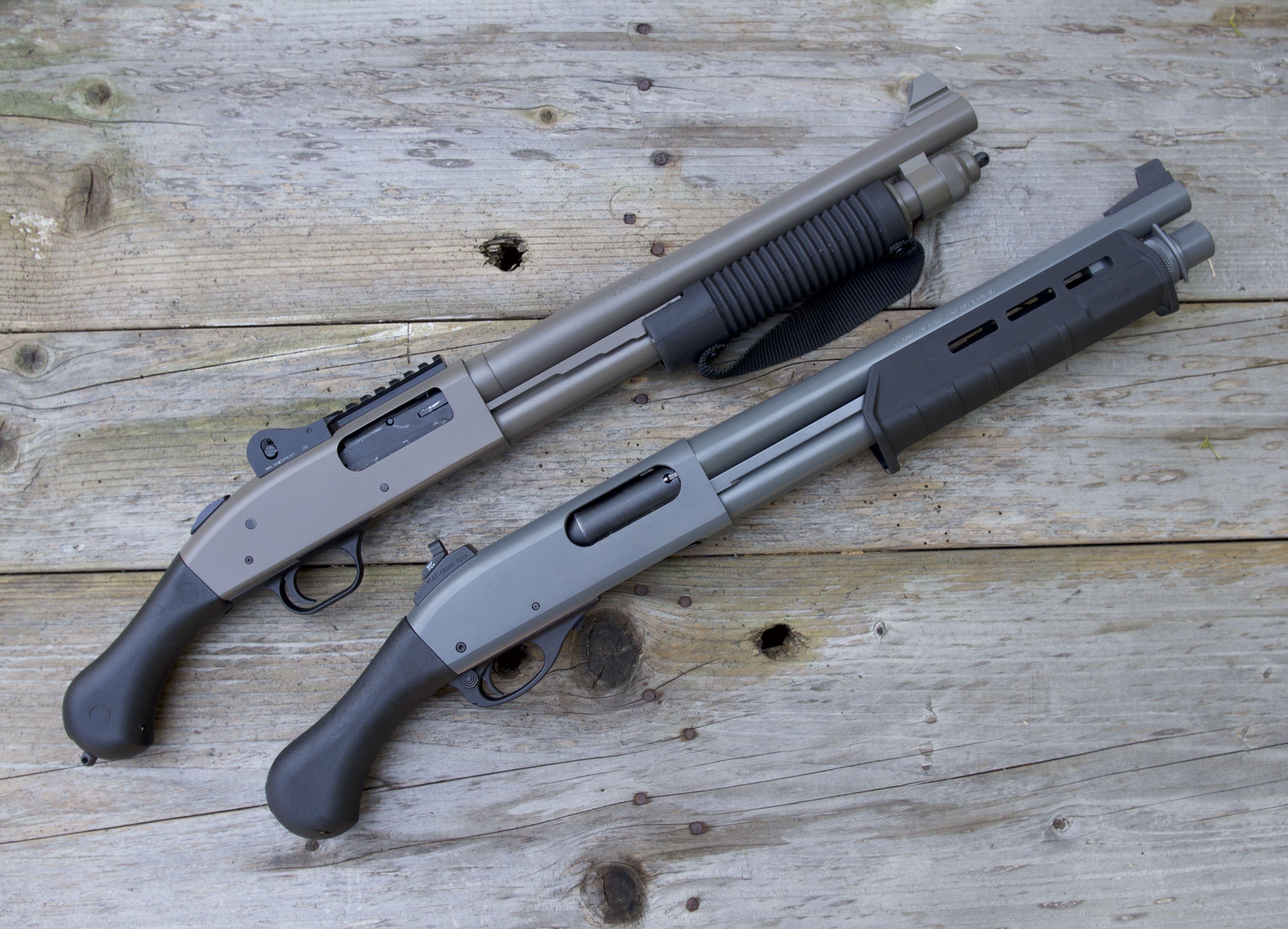 Custom Remington TAC14 and Mossberg Shockwave 4