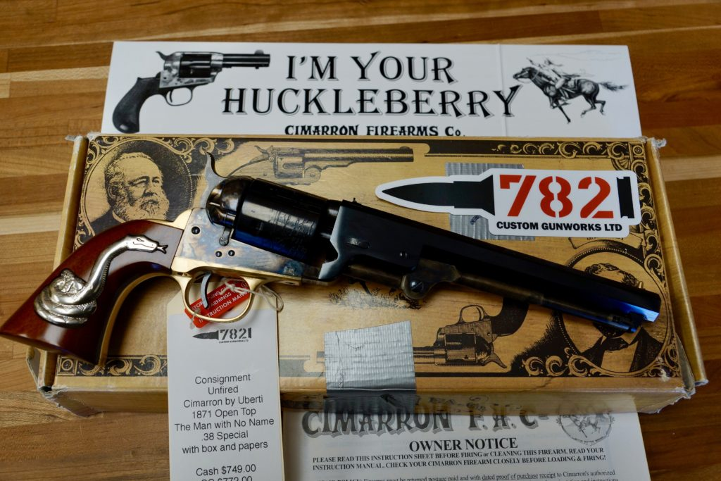 """Cimarron 1871 """"The Man with No Name"""" Open Top  38SPL by Uberti"""